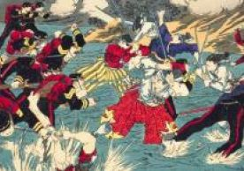 Woodblock print depicting the Satsuma Rebellion. National Diet Library, Tokyo