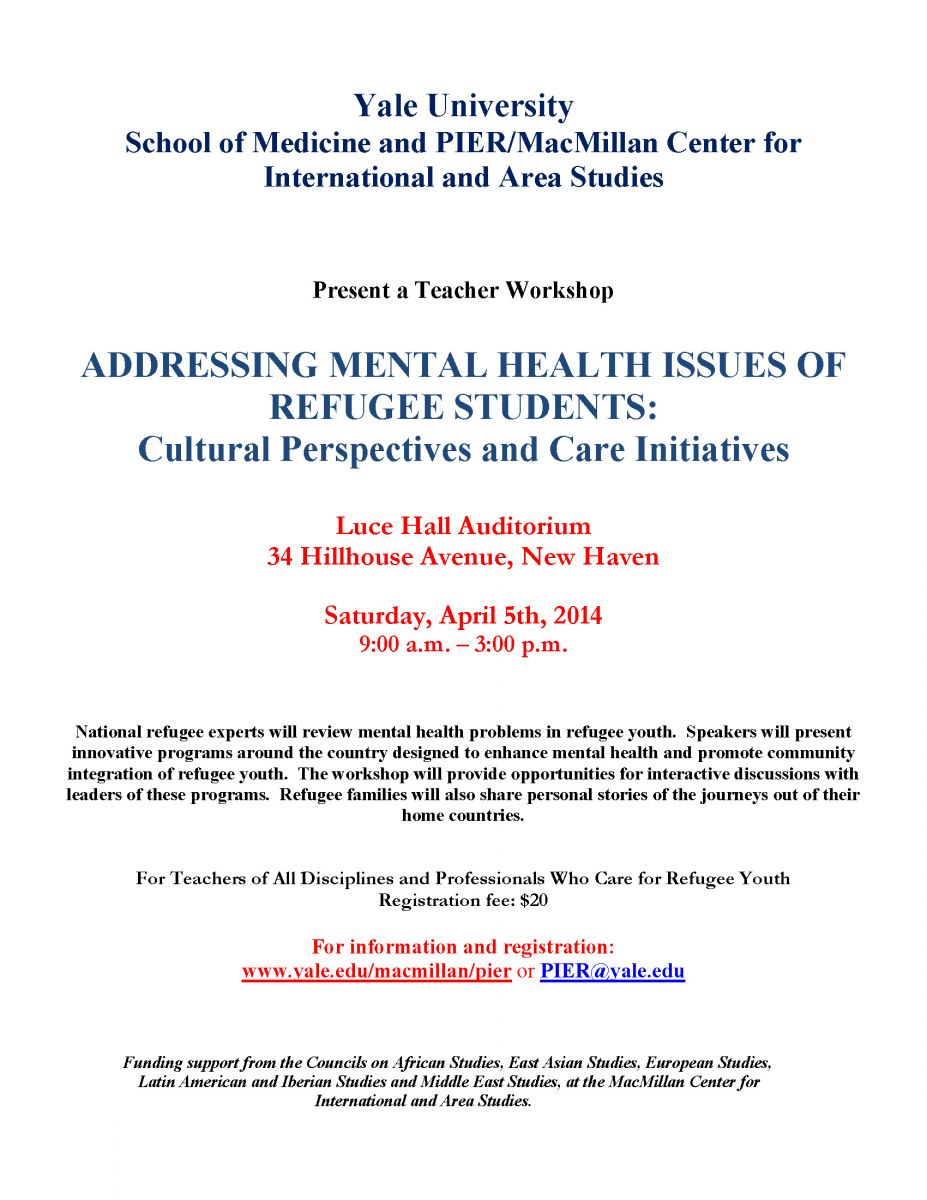 addressing mental health issues of refugee students cultural