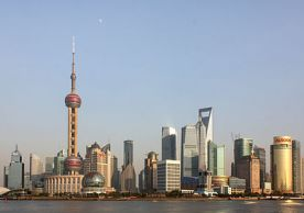 """Pudong, Shanghai. The classic visual image of the """"rising Asian city."""" 2012. By J. Patrick Fischer (Own work) [CC BY-SA 3.0 (http://creativecommons.org/licenses/by-sa/3.0)], via Wikimedia Commons"""