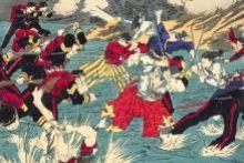 Woodblock print depicting the Satsuma Rebellion. National Diet Library, Tokyo